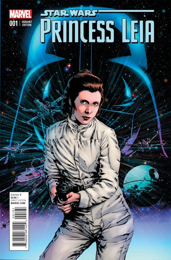 Bill Sienkiewicz again. And a Leia who looks like Carrie Fisher.