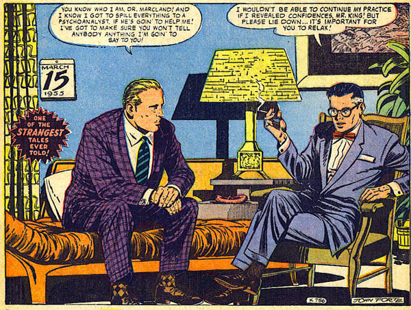 """The Brute!"" in Strange Tales #53 (1956), script by Carl Wessler, art by John Forte"