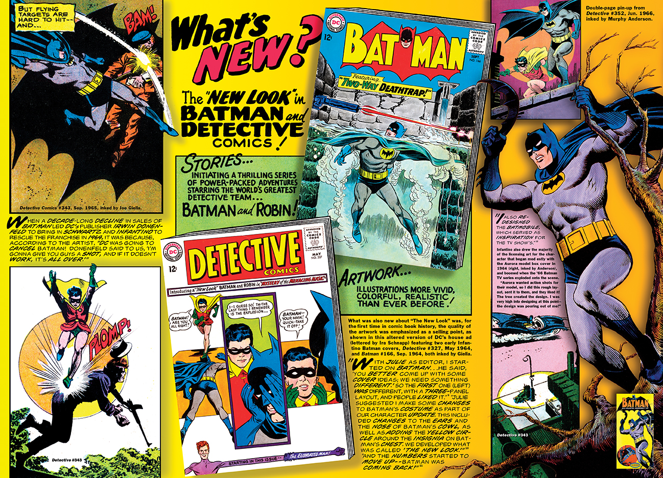 Schnapp's house ad is front and center of this Batman spread in the Carmine Infantino chapter of my Silver Age book.