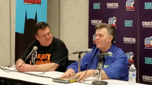 Yours truly, hosting the Neal Adams panel