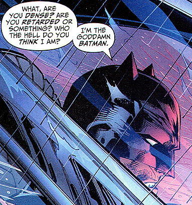 Bruce's kind words of comfort to Dick, whose parents were just killed.