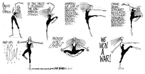 Feiffer strip from the Village Voice