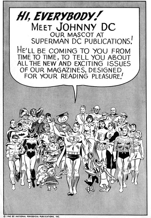 "Even though this is five years before I was born, that's really me on Superman's shoulder. I just took the stage name ""Johnny"" because that's what you did back then."