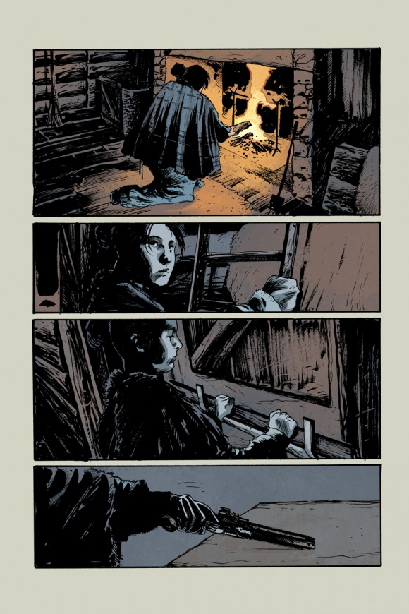 EXCLUSIVE! Page 1 from Rebels #3 by Andrea Mutti w/colors by Jordie Bellaire