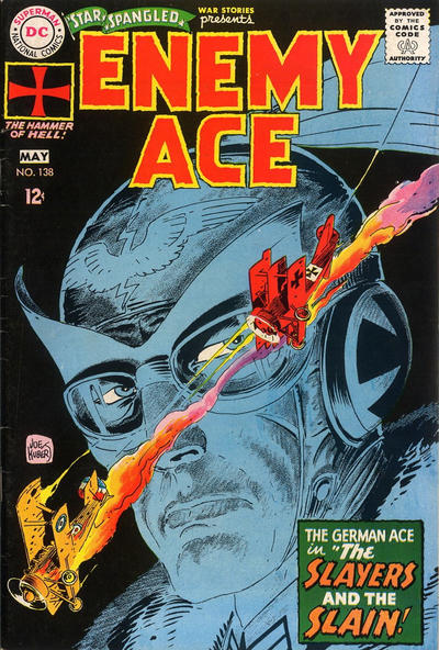 He co-created Enemy Ace. Kubert cover.
