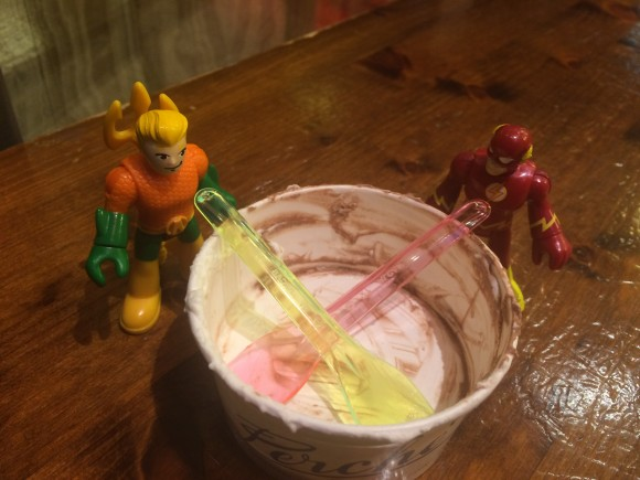 """Arthur, you weren't kidding about the gelato. I should slow down more often!"""