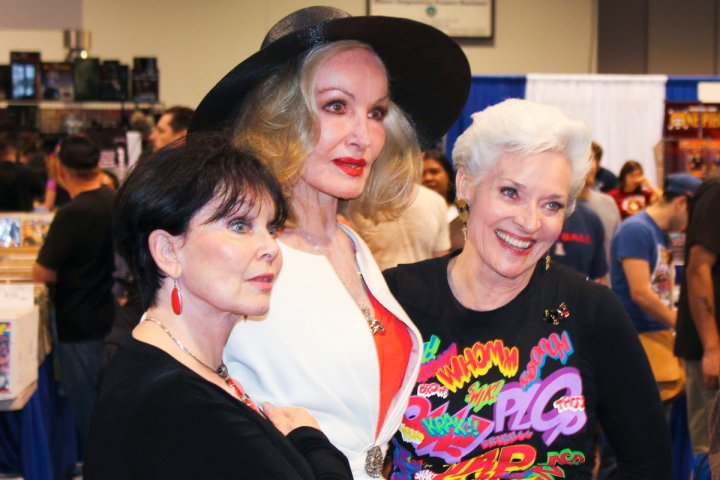 Yvonne Craig, Julie Newmar and Lee Meriwether via Scott Sebring's Facebook page.