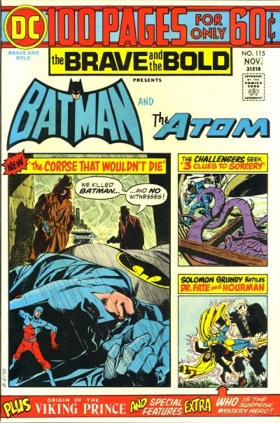 My personal favorite issue of B&B, even though the cover doesn't showcase enough of Aparo's art.