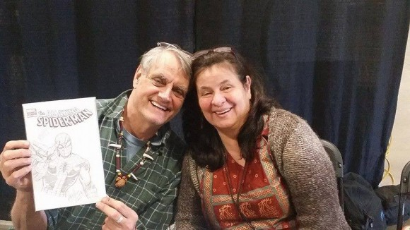 Herb Trimpe and his lovely wife, Patricia Vasquez-Trimpe, at his final public appearance at the East Coast Comicon in April.