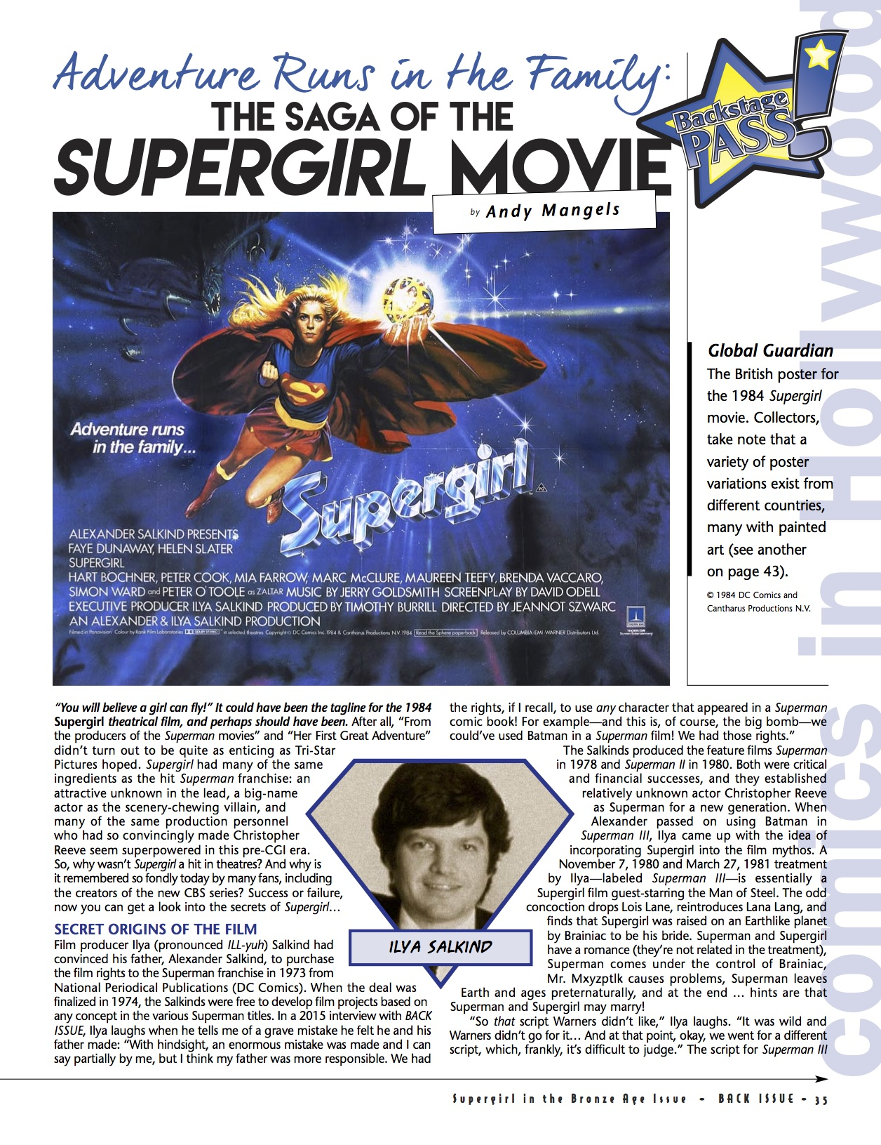 BI #84 Supergirl movie