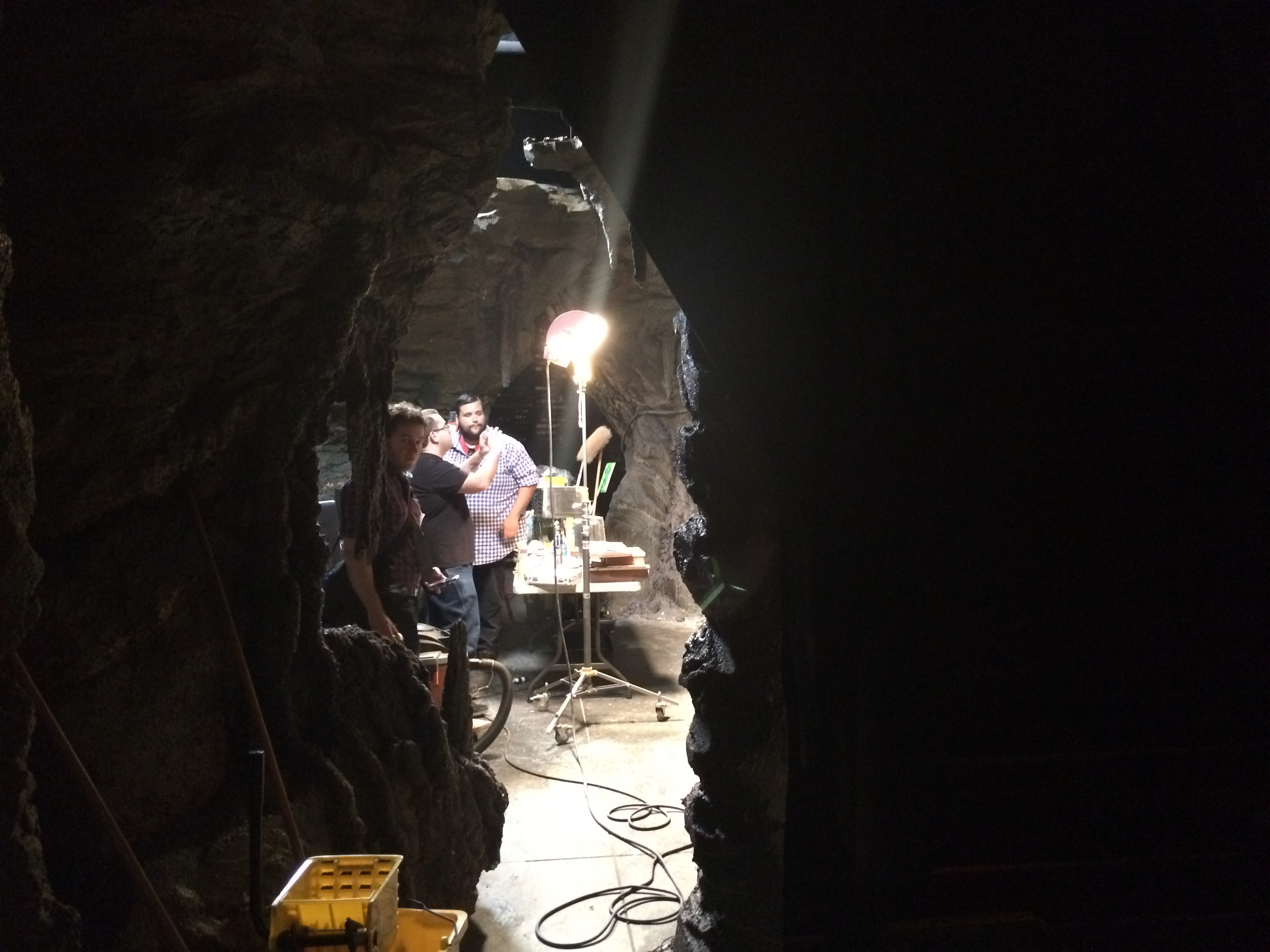 People milling about the Cave.