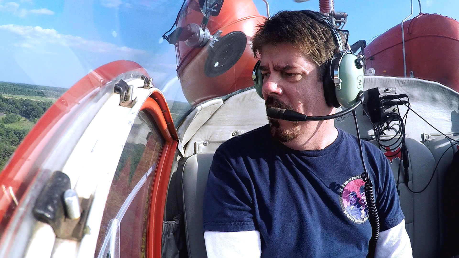 Our buddy MIke Zapcic in the Batcopter