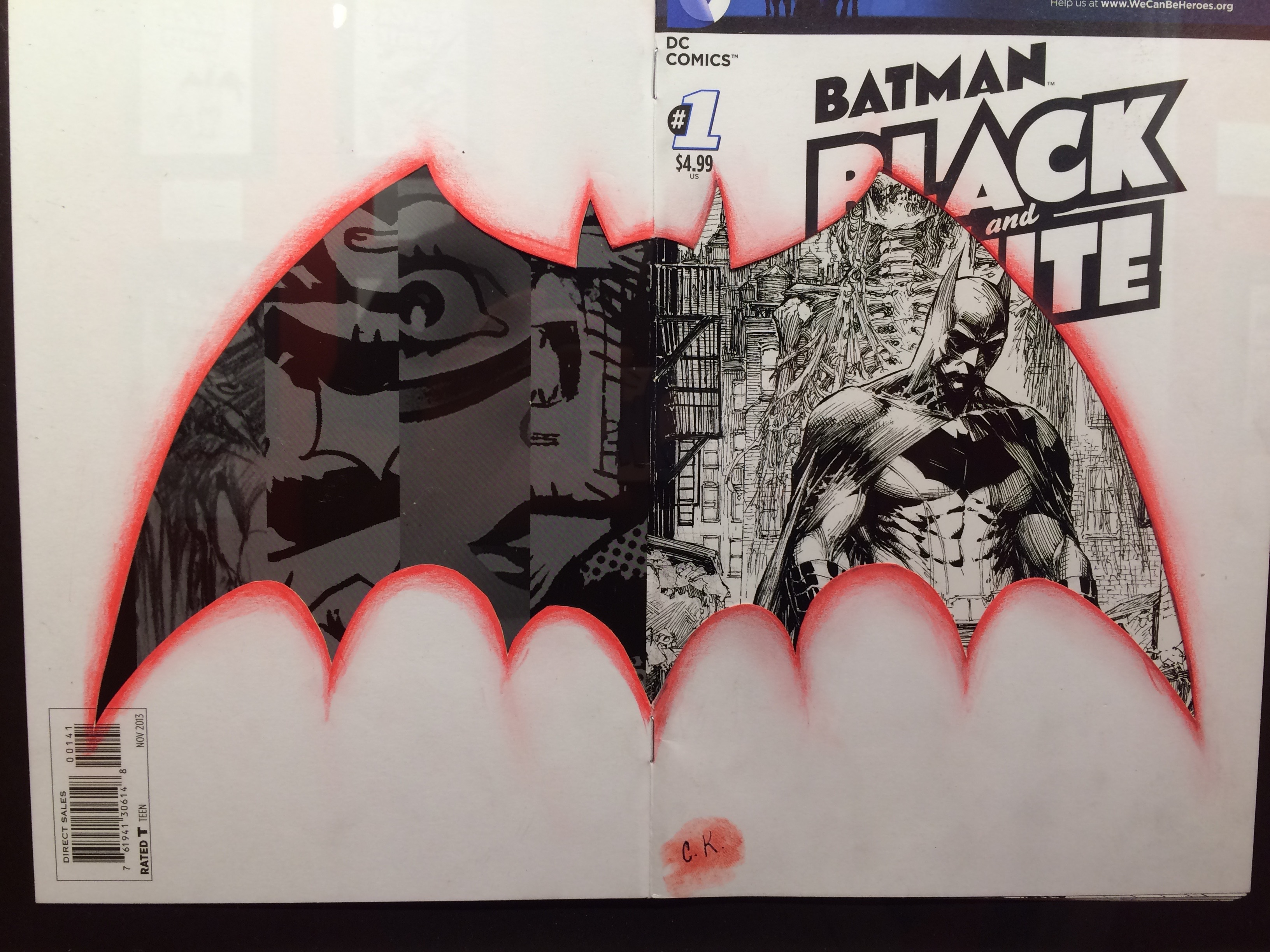 Chip's own entry in his Batman: Black and White exhibit