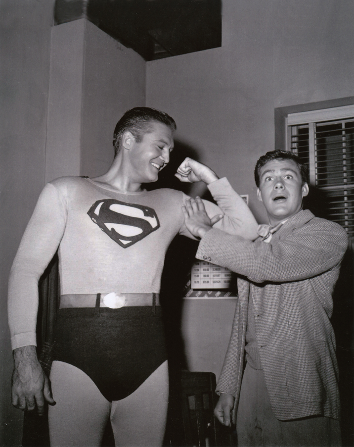 Superman and his pal, Jimmy Olsen (Jack Larson).