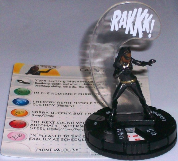 This HeroClix miniature is still the only Eartha Kitt Catwoman action figure out there ...