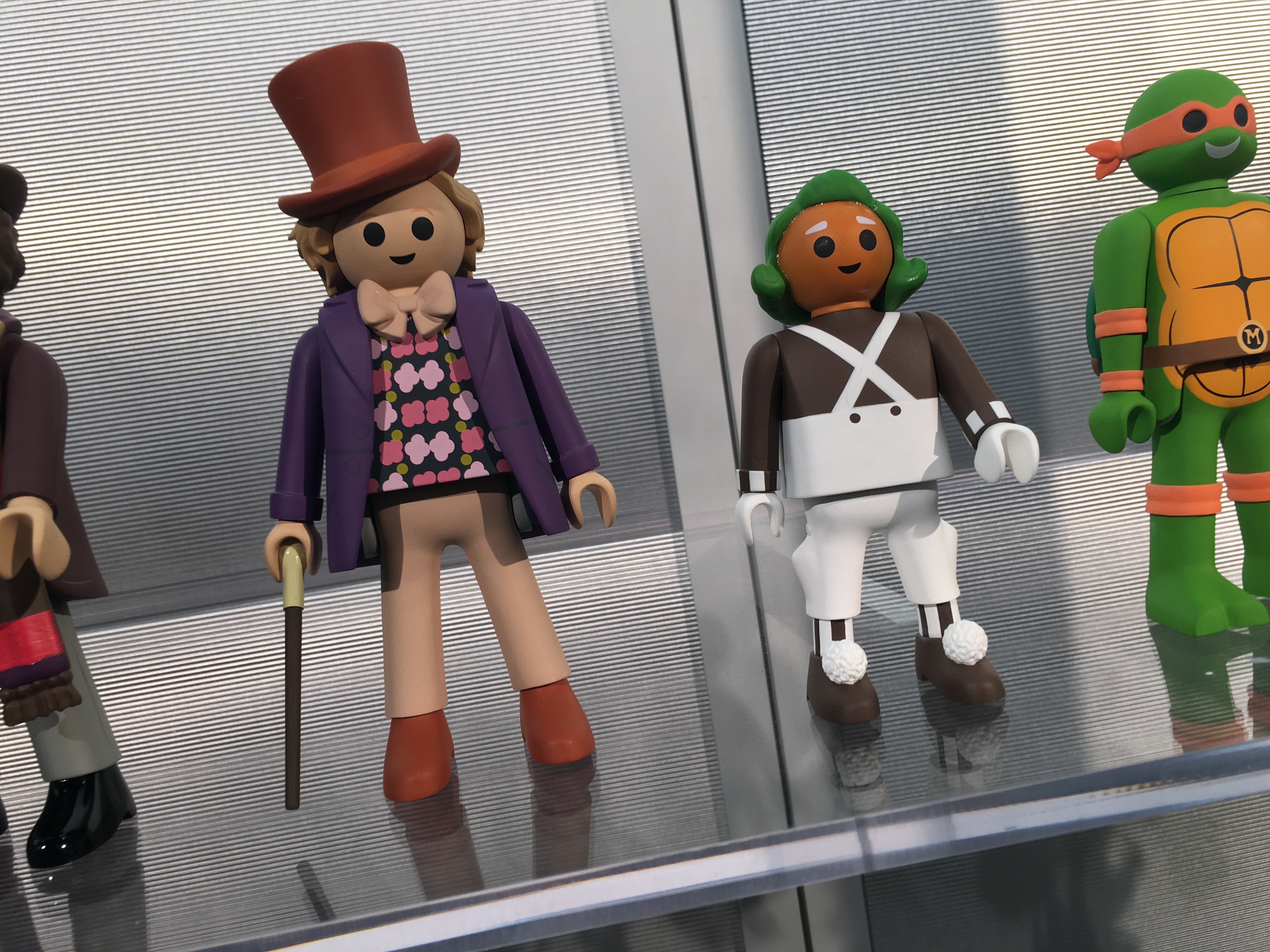 Willy Wonka oversize Playmobil-style figures. Whaaaa!