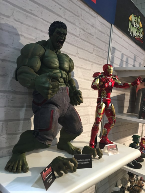1/4 scale. Hulk actually reaches 2 feet when standing tall.