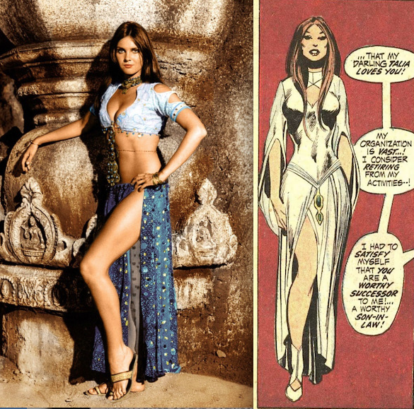 Caroline Munro on the left. Talia (from Batman #232) on the right.