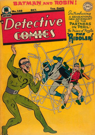 The first Riddler appearance.