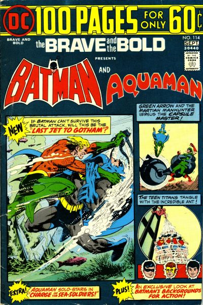 Jim Aparo on the Aquaman/Batman section.
