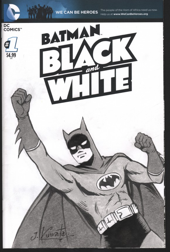 A Kuwata original from Chip Kidd's Batman: Black and White exhibit!