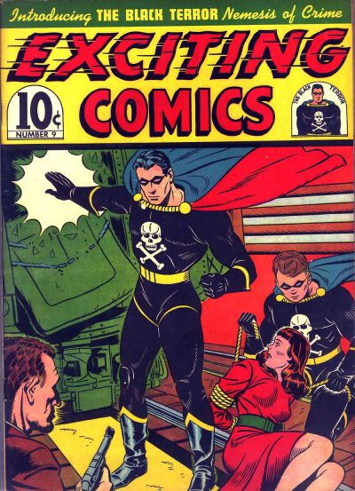 David Gabrielsen is the artist credited with co-creating Black Terror. This first-appearance cover is by Elmer Wexler