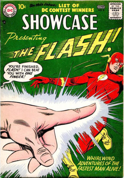 Infantino and Frank Giacoia. This was only the Flash's second appearance and already they were at it ...