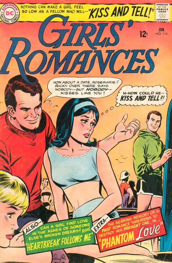 Image from Sequential Crush - a blog devoted to preserving the memory of romance comic books and the creative teams that published them throughout the 1960s and 1970s.