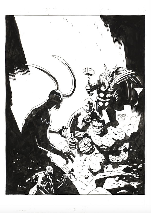 Mike Mignola, Avengers Annual #20 pin-up
