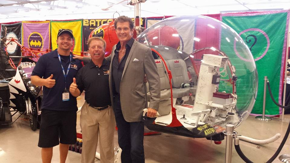 That's Eugene Nock in the center and his son Wilson on the left. That's David Hasselhoff on the right. He will not be at Monsters & Robots. I just wanted to give you a glimpse at the banners!