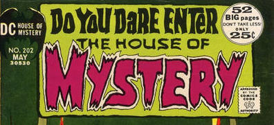 """House of Mystery. Hands down. God, he was my favorite letterer. The best there ever was at that game."" -- Mark Waid"