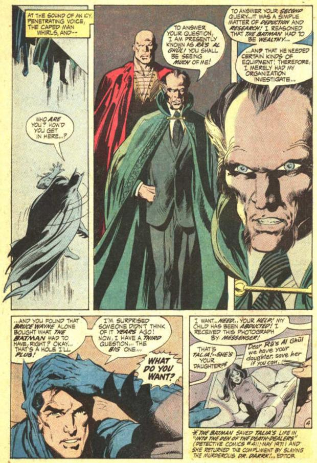 Ra's al Ghul's first appearance in Batman #232