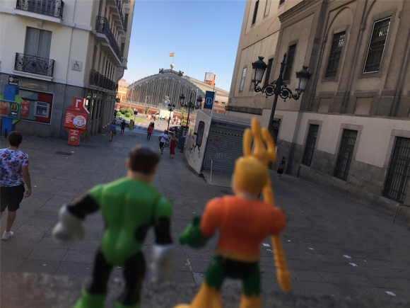 """Arthur, look! There's a Hall of Justice just outside the Reina Sofia!"""