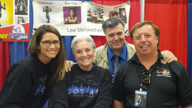 Lesley Aletter (Meriwether's daughter); Meriwether; comics legend Neal Adams; Nock