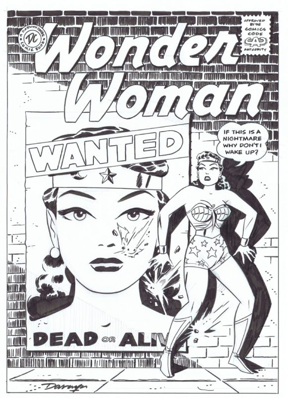 This is a cool commission that I saw online. Great riff on a Silver Age classic.