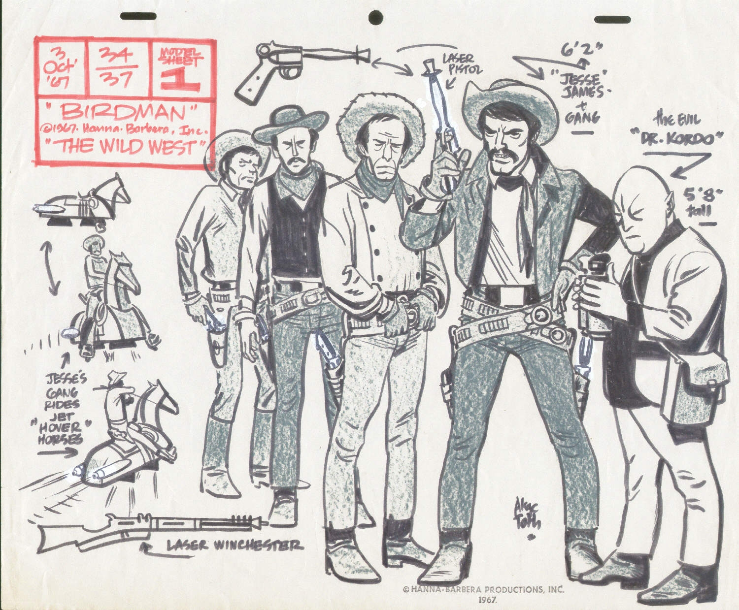 13 great alex toth model sheets  a birthday celebration