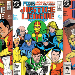 13 COVERS: The JUSTICE LEAGUE in the BWA-HA-HA '80s