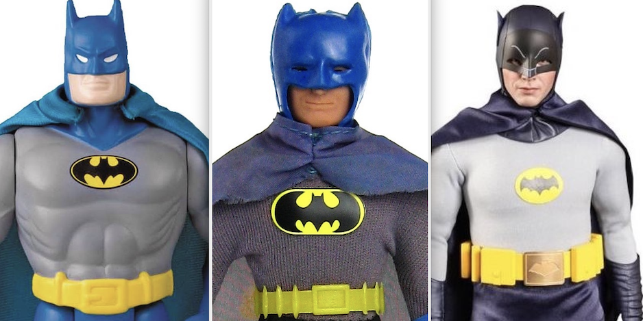 DC Super Heroes Silver Age Batman with removeable Cowl