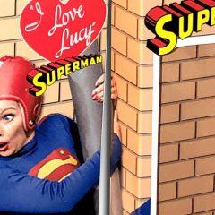 Custom MEGO Box of the Day #13: LUCY RICARDO AS SUPERMAN
