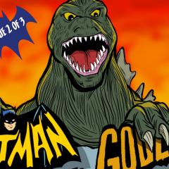 FIRST LOOK: The BATMAN '66 MEETS GODZILLA #2 Cover
