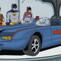 BATMAN '66 MEETS GODZILLA: Dig the Souped-Up New BATMOBILE