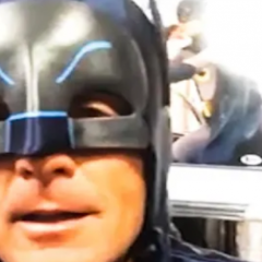 DOUG FLUTIE is a Huge BATMAN '66 Fan — and Has the Batmobile to Prove It