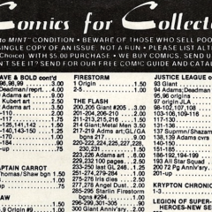 SUCH A DEAL! Dig This Rad 1981 DC COMICS Back Issue Price List